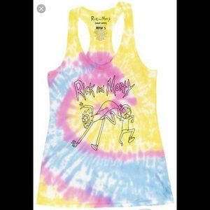 Rick and Morty Tie Dye Tank Top Size Large